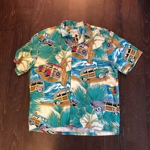 Diamond head sportswear woody Hawaiian top shirt